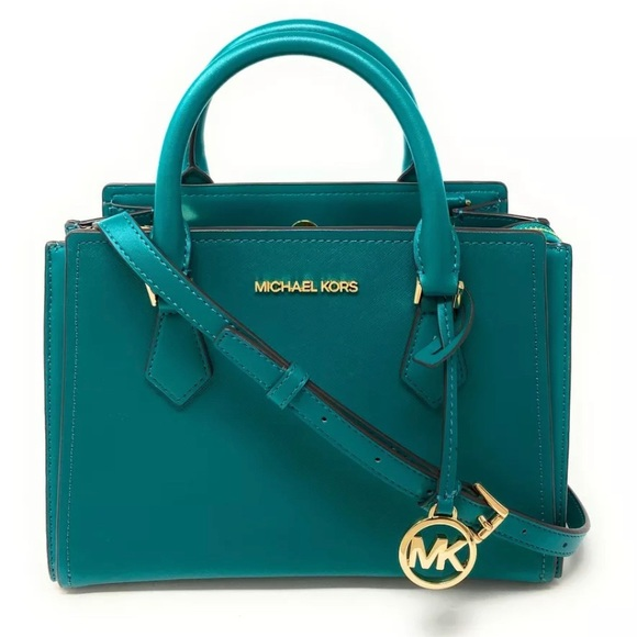 Michael Kors Handbags - Michael Kors Hope Satchel Teal Aqua